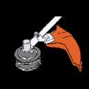 Gräsröjsats med montering För FS410, 460 och FS480
