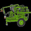 Kompressor 380V ll00 liter med hjul