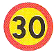 Rek. högsta hastighet 30 km