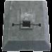 Fotplatta, kombinerad för skyltar eller sidomarkering