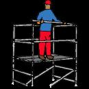 Stegställning B 1,3 - L2,0 - H6,0 meter