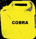 Bensin oljeblandad, Cobra Gul, 5 liter