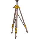 Stativ med vevbar mittpelare, -2,8 meter