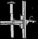 Stativ för vägg eller pelare, 2-leds