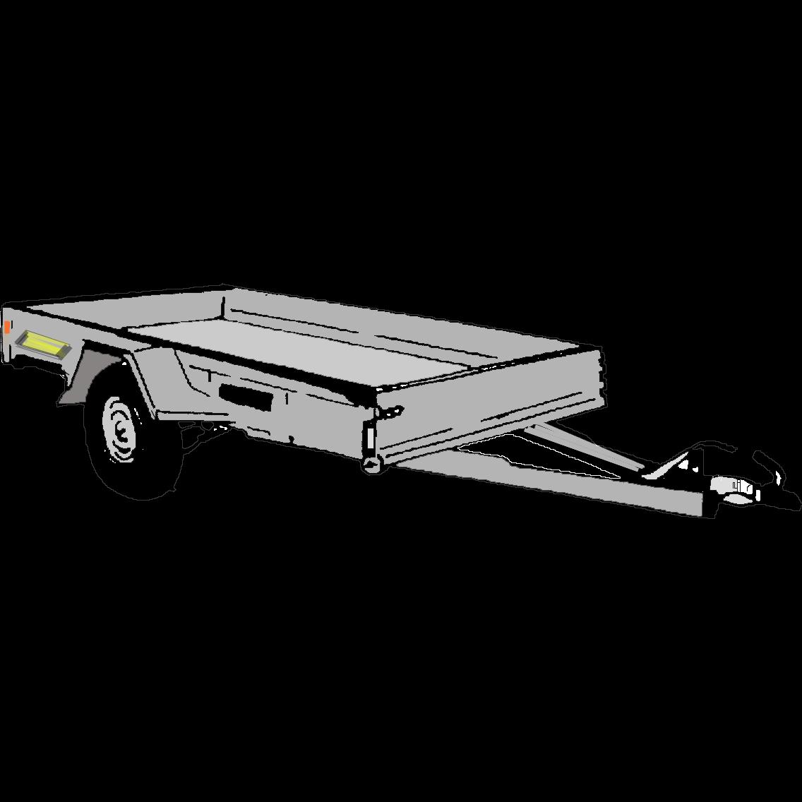 Släpvagn, totalvikt 1000 kg, bromsad (Heco aluminium)