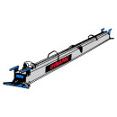 Vibratorbalk, enprofils, 380 V, 5,20 meter
