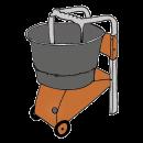 Brukblandare med balja 40 liter