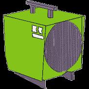 Byggtork, gasoldriven -10 kW