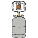 Infravärmare, gasoldriven -2500 W