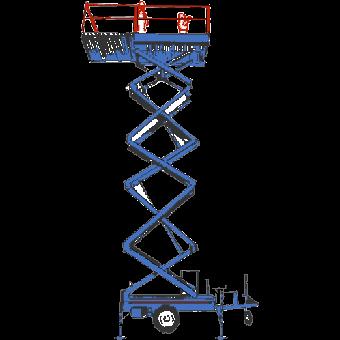 Saxlift, 8,7 meter ej självgående
