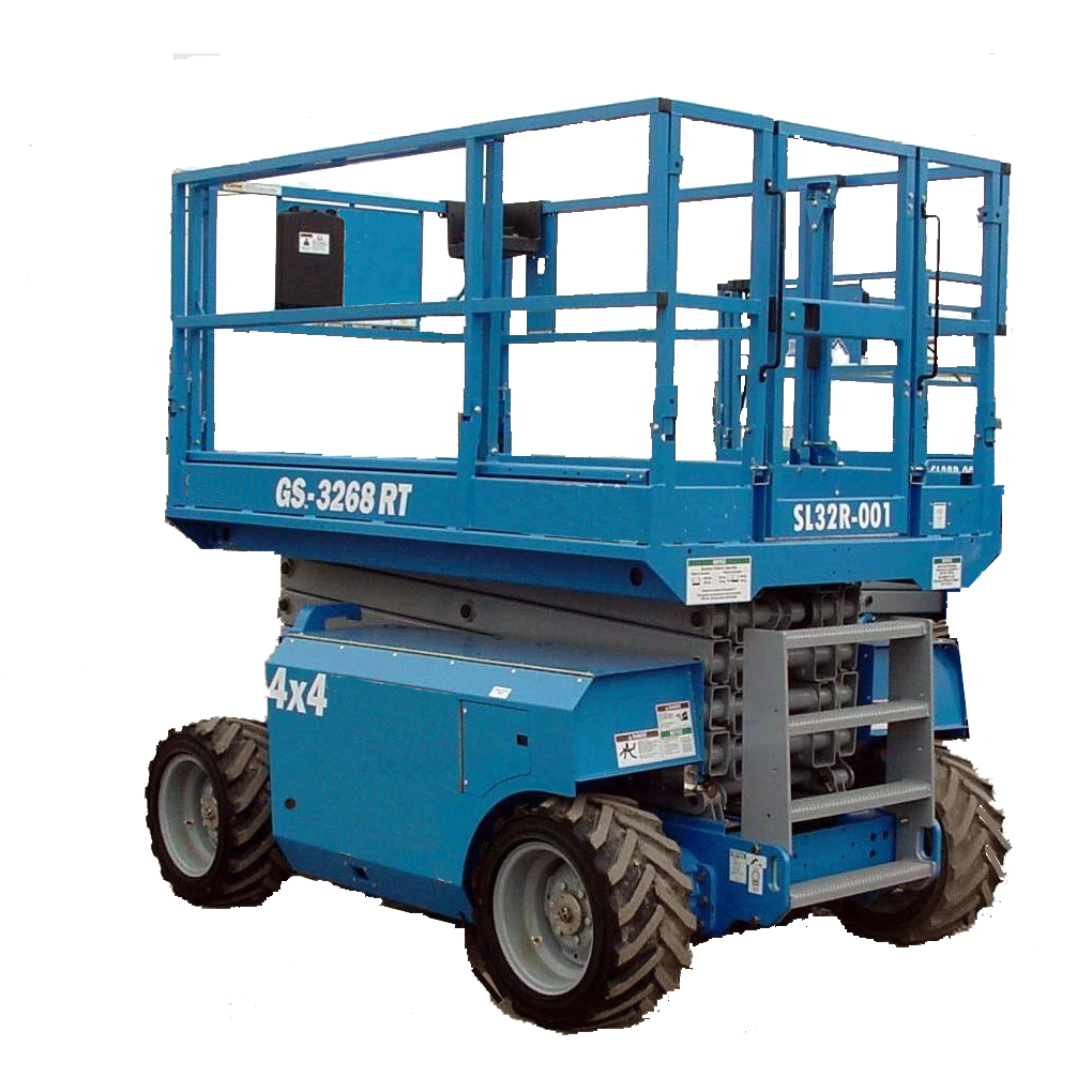 Saxlift, 11.75 m utomhusgående 4-hjulsdriven, dieseldriven