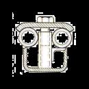 Elementhållare med bult, Tremix