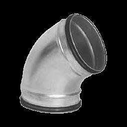 Krök, 45 grader med skarvstos, 150 mm